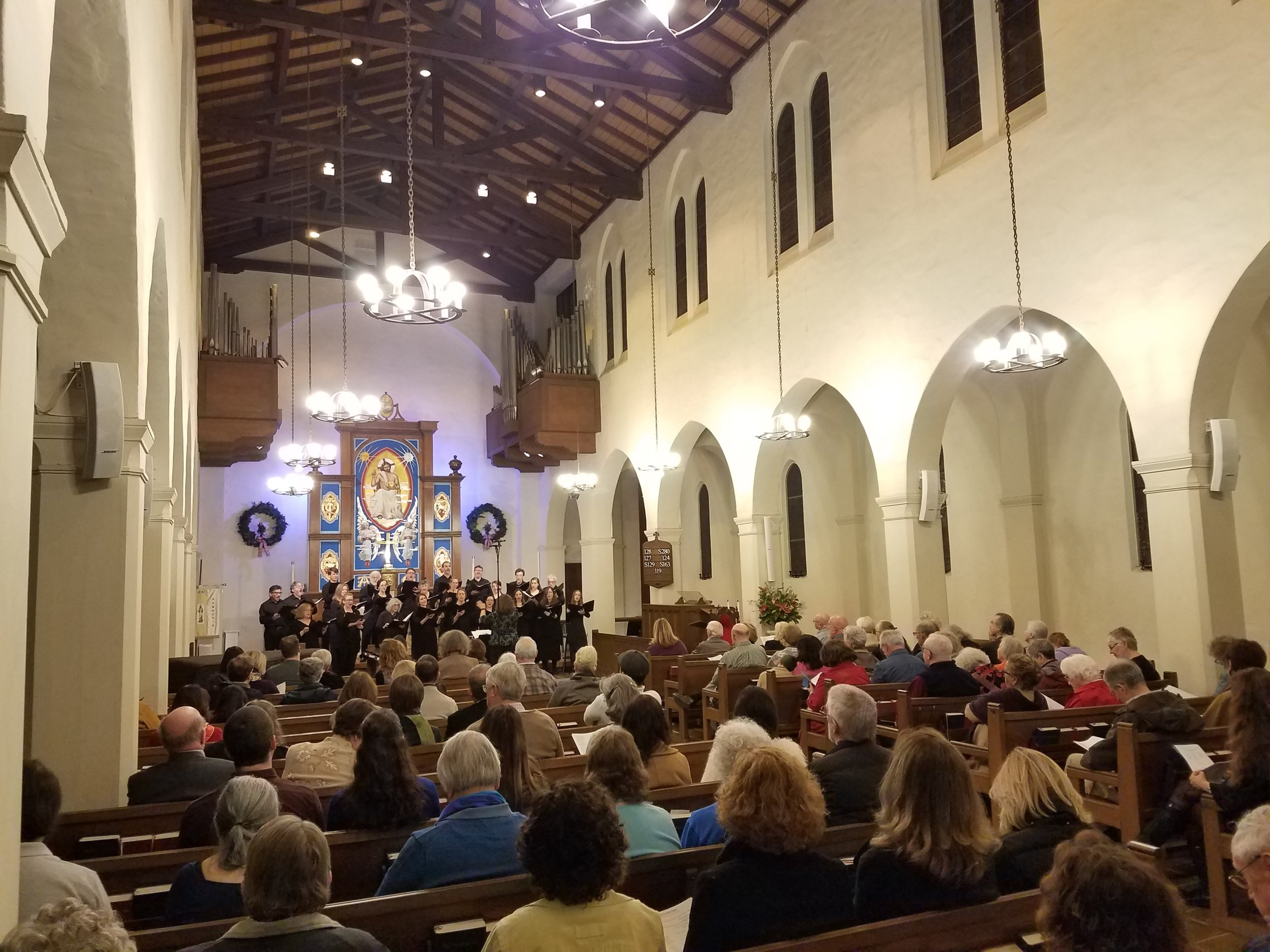 Jouyssance performs at St. Luke's Episcopal Church in Monrovia, CA on January 6, 2019.