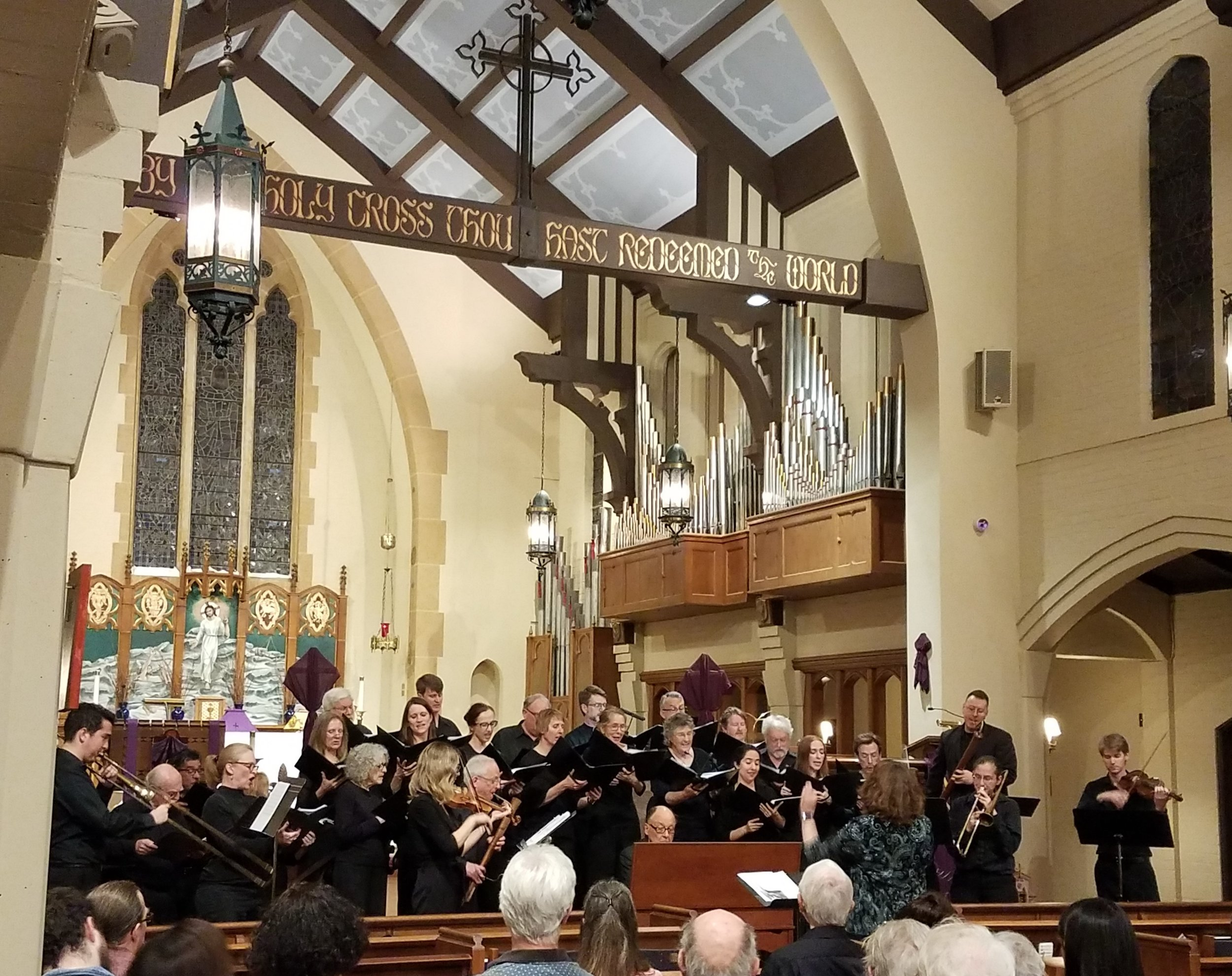 Jouyssance and Commercium Musicum performing at St. Cross Hermosa Beach on March 30, 2019.