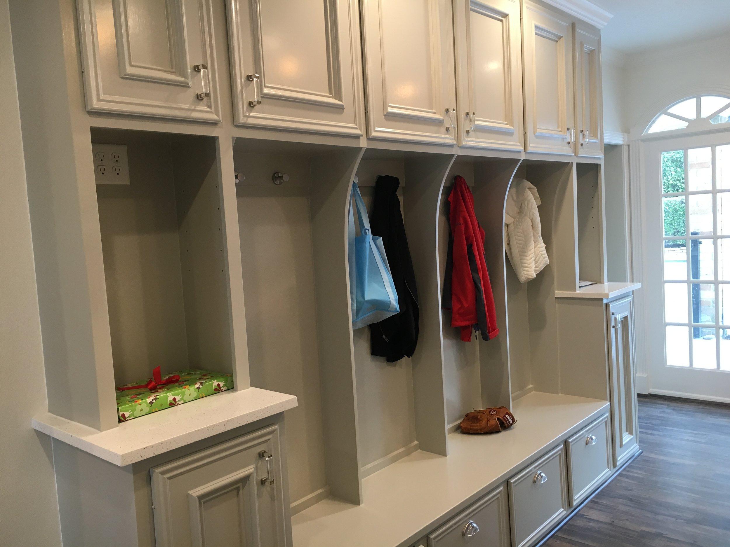 Storage Cabinets with Kid's Locker in Spring TX