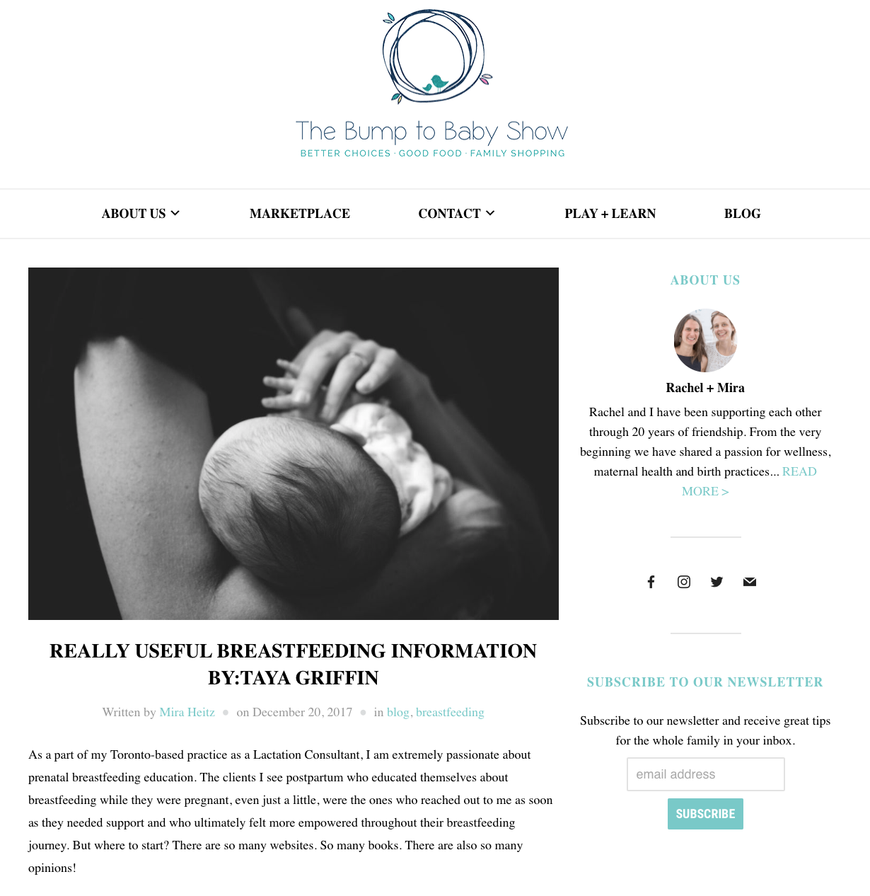 - Click here:Really Useful Breastfeeding InformationTHE BUMP TO BABY SHOW BLOG, December 20, 2017