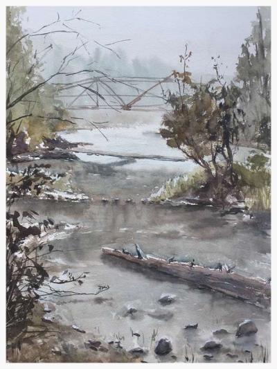 Cle Elum River, 12x16 Plein Air