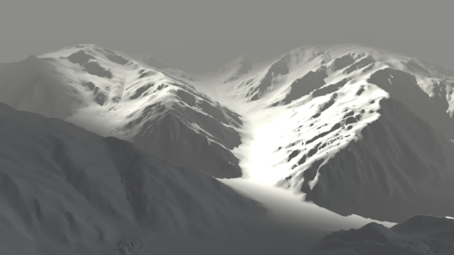 With value(lighting) implemented, you can immediately tell the form, the depth and the direction things are facing. You are not likely able to tell these are mountains.