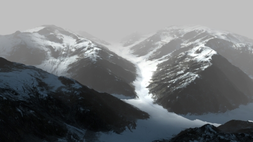 With the texture of the mountain in, the whole image become even more realistic.