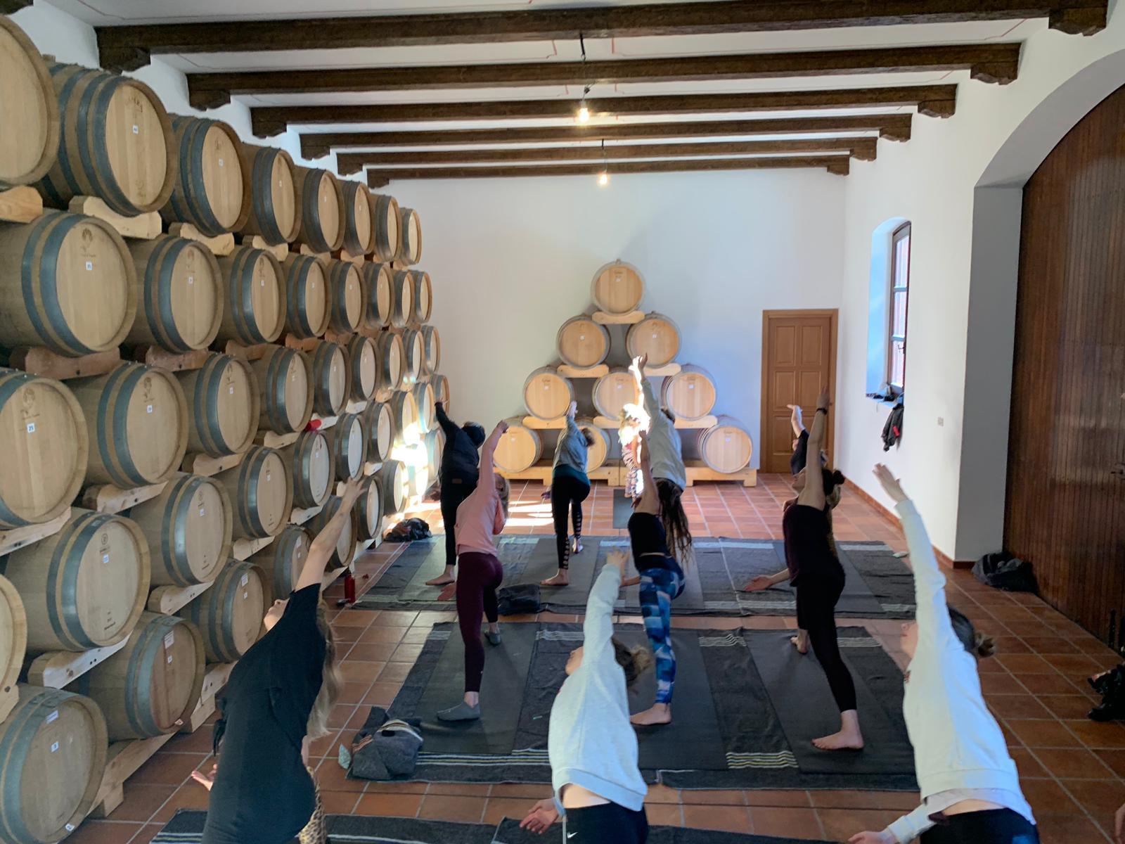 Yoga bij de wijnboer