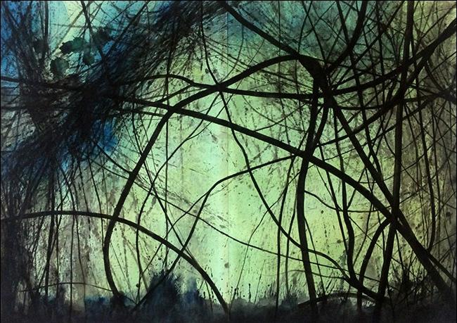 Willem Sanders | altalanghe #45 | watercolour 100 x 143,5 cm | 2017