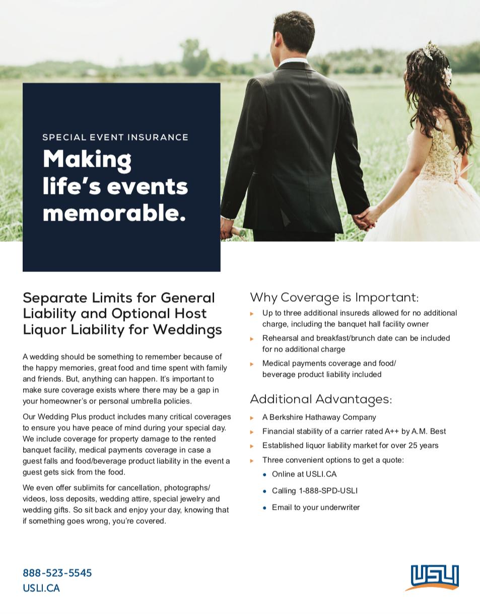 Wedding Product Marketing Sheet - Canada Rebrand