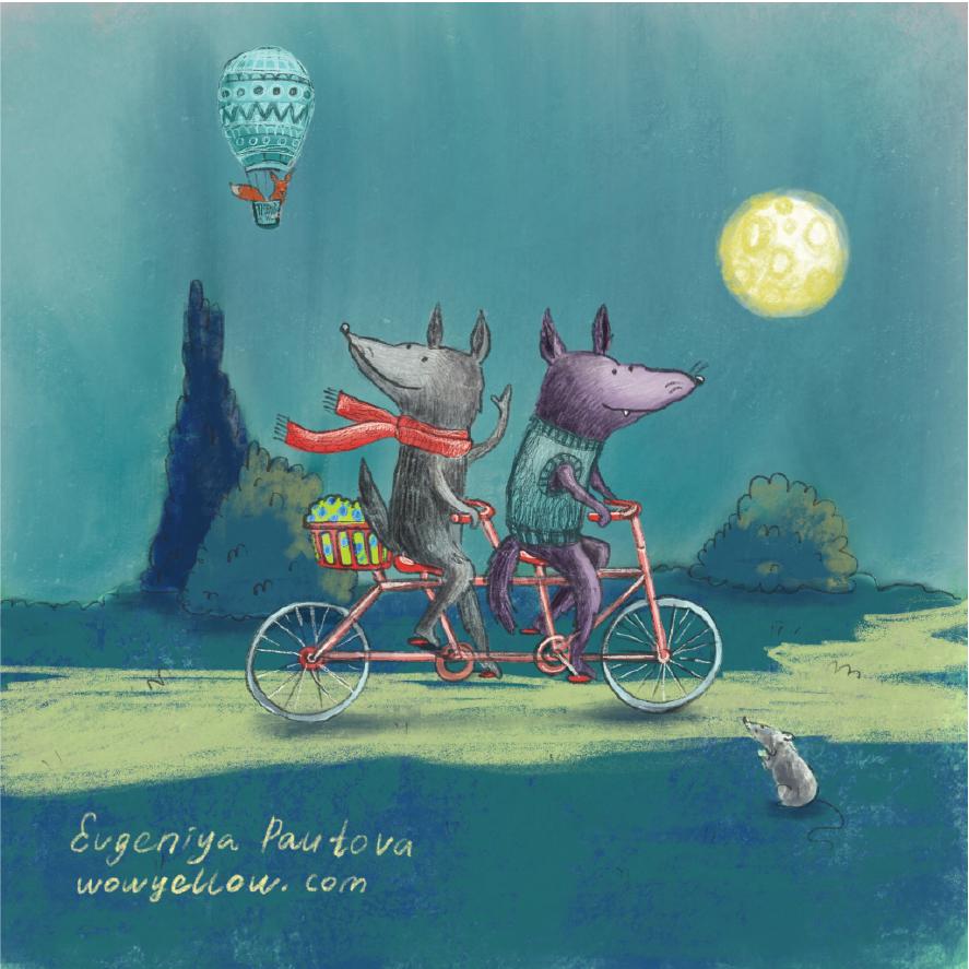 biking wolves card 14x14cm_Artboard 1.png