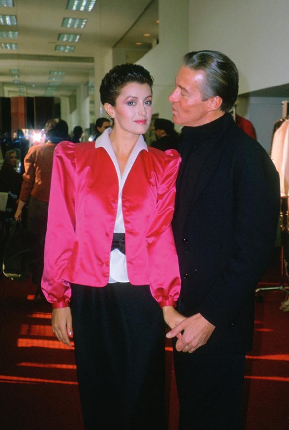 Carla Araque and Halston.