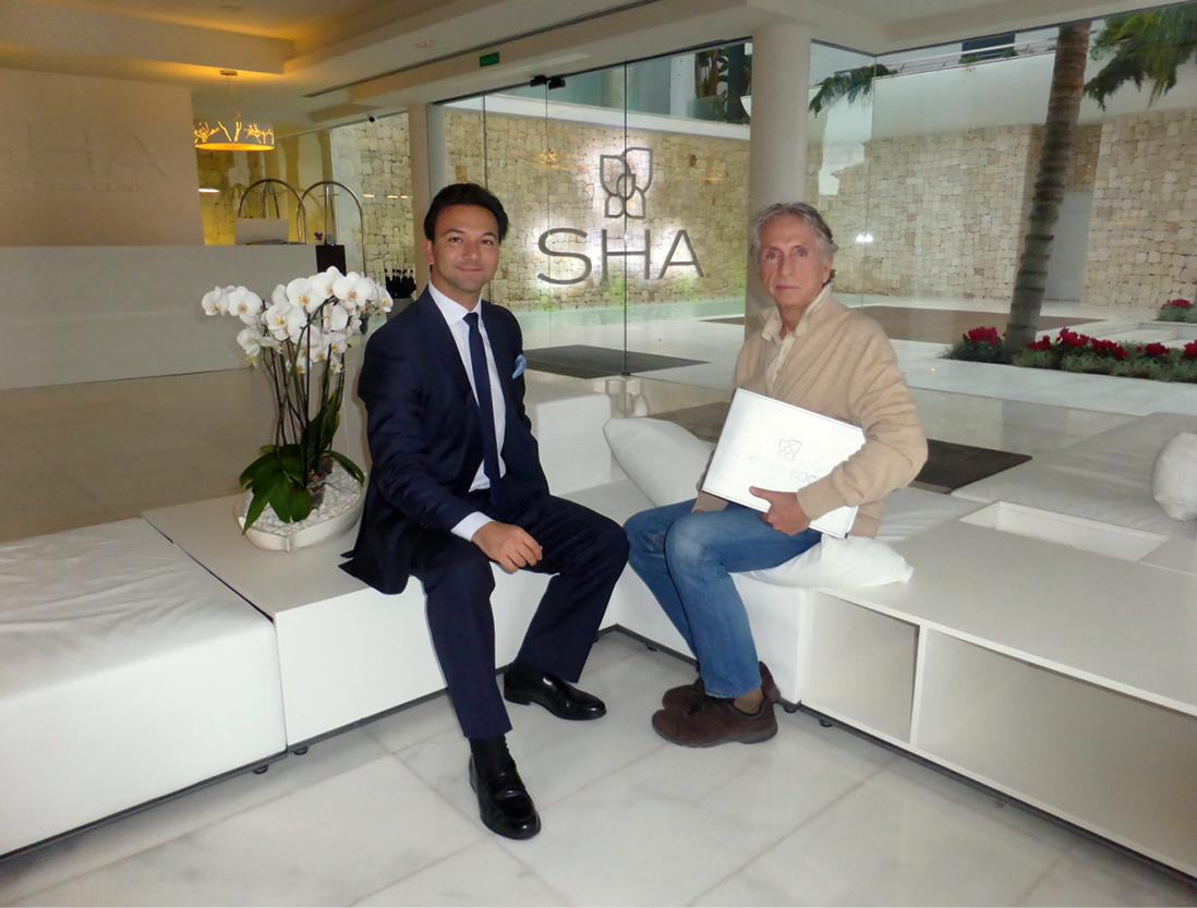 Mr. Alfredo Bataller (Left), CEO at SHA Wellness Clinic, and Mr. Carlos Martorell.