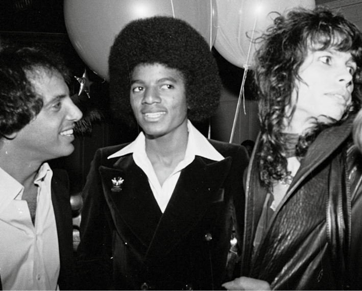 Steve Rubell, Michael Jackson And Steven Tyler, 1977. © Bobby Bank/ Wirelmage.