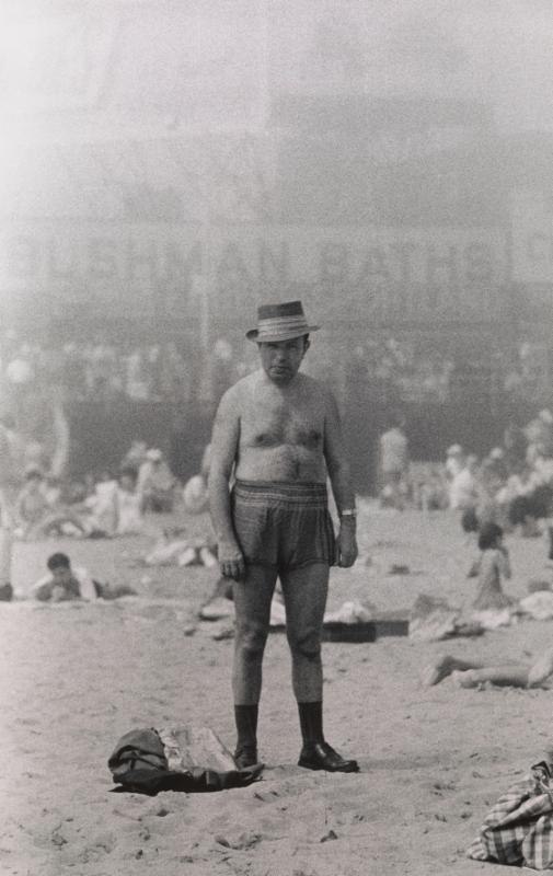 Image: Man in hat, trunks, socks and shoes, Coney Island, N.Y. 1960  © The Estate of Diane Arbus, LLC. All Rights Reserved