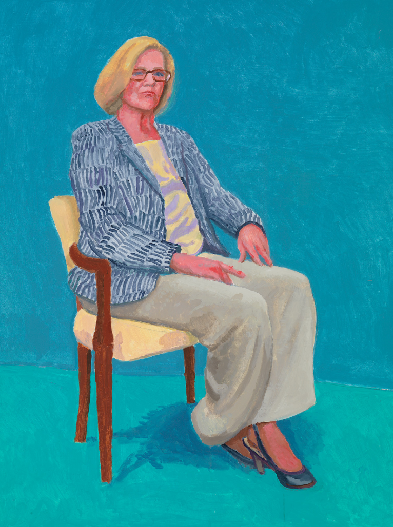 David Hockney RA, Dagny Corcoran, 15th, 16th, 17th January, 2014. Acrylic on canvas. 121.92 x 91.44 cm. © David Hockney Photo credit: Richard Schmidt.