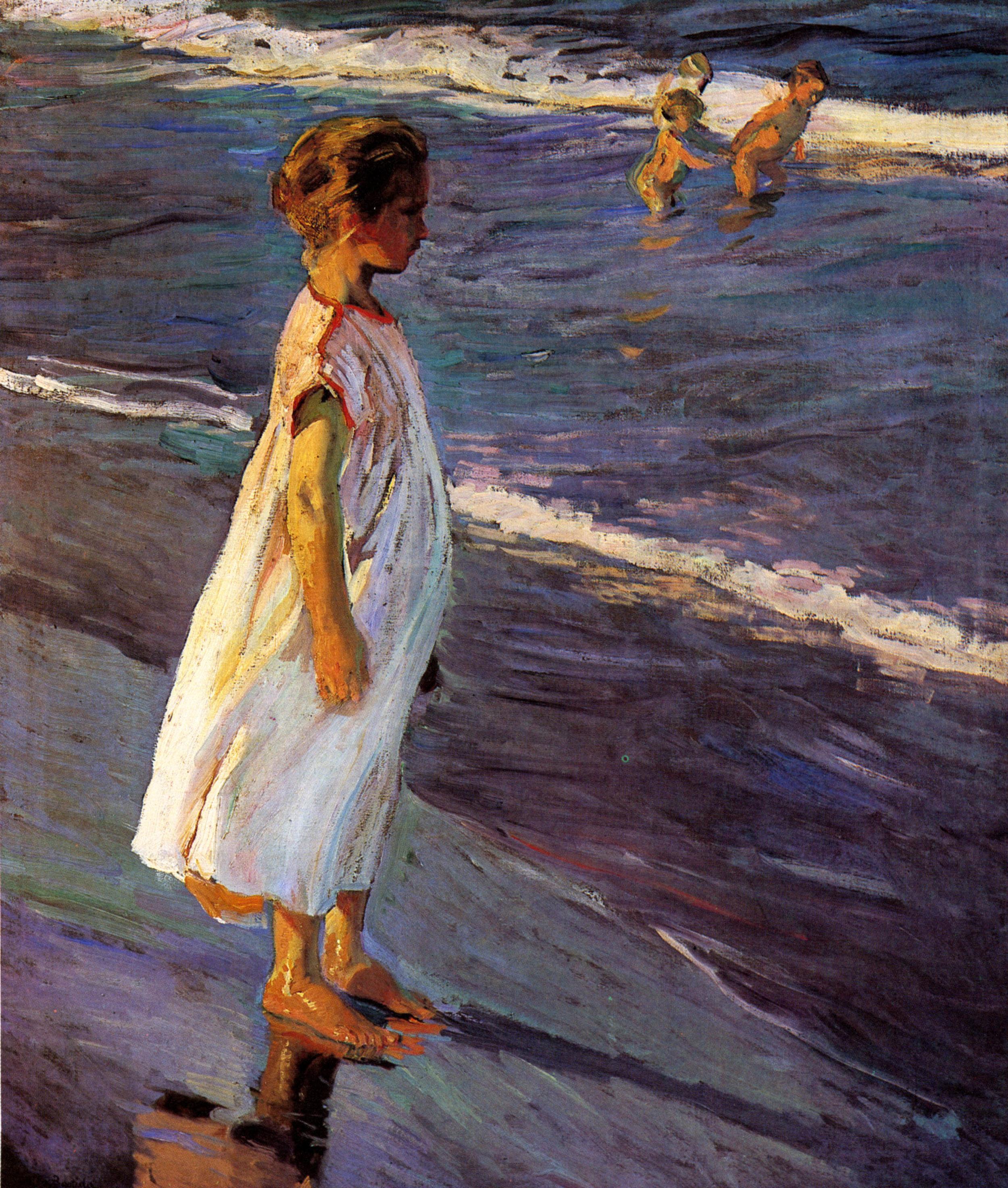 Niña, estudio para Verano, 1904. Museo Nacional de Bellas Artes de La Habana.
