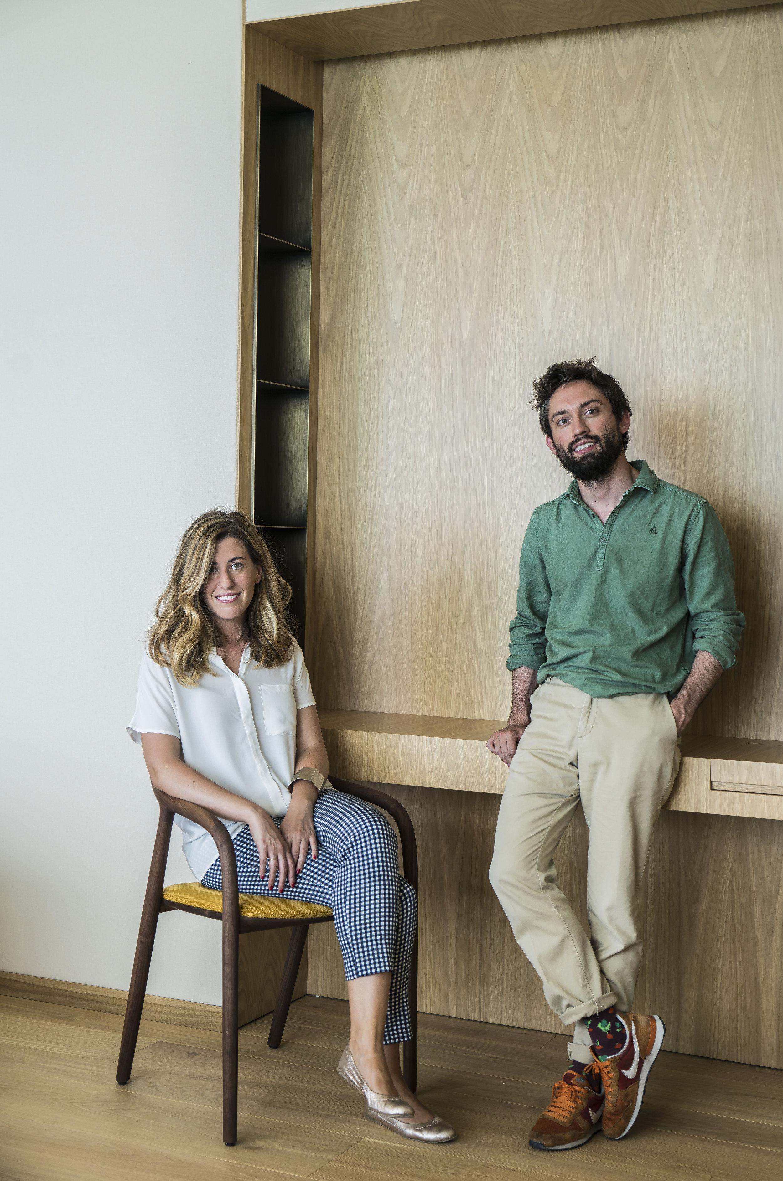 Marta Urtasun y Pedro Rica.