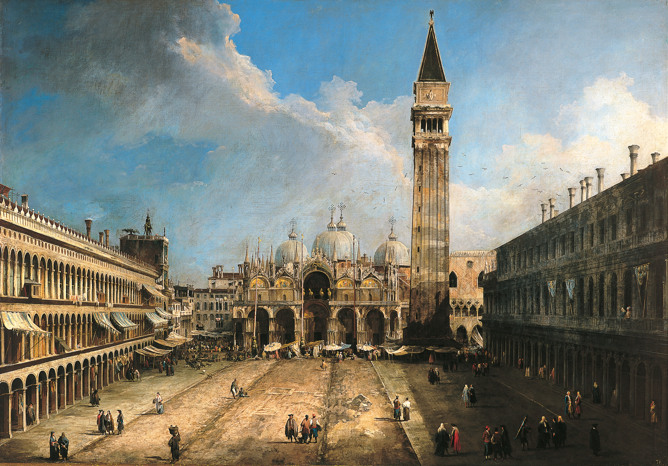 Canaletto.  View of Piazza San Marco, Venice , c. 1723-1724. 142,5 x 204,4 cm. Museo Thyssen-Bornemisza, Madrid.