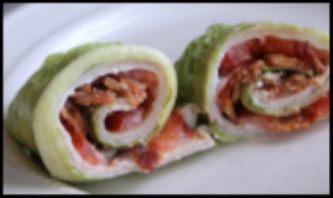 Turkey Club Lettuce Wrap
