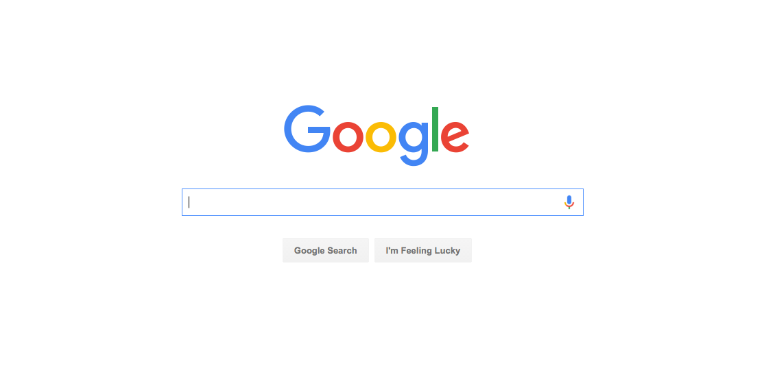 Google knows the large majority of its users are there for one thing – search. Their homepage is built accordingly.
