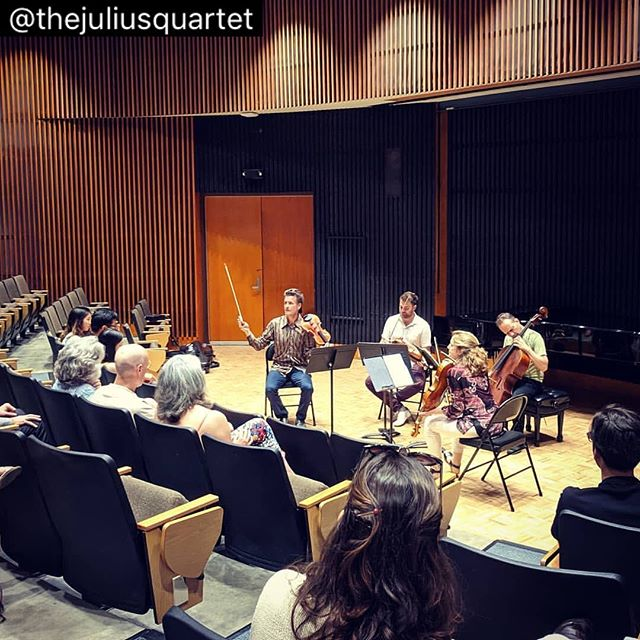 It's always the right time for some #haydn ... Repost from @thejuliusquartet #slsqseminar #slsq2019 #stringquartet #violin #viola #cello