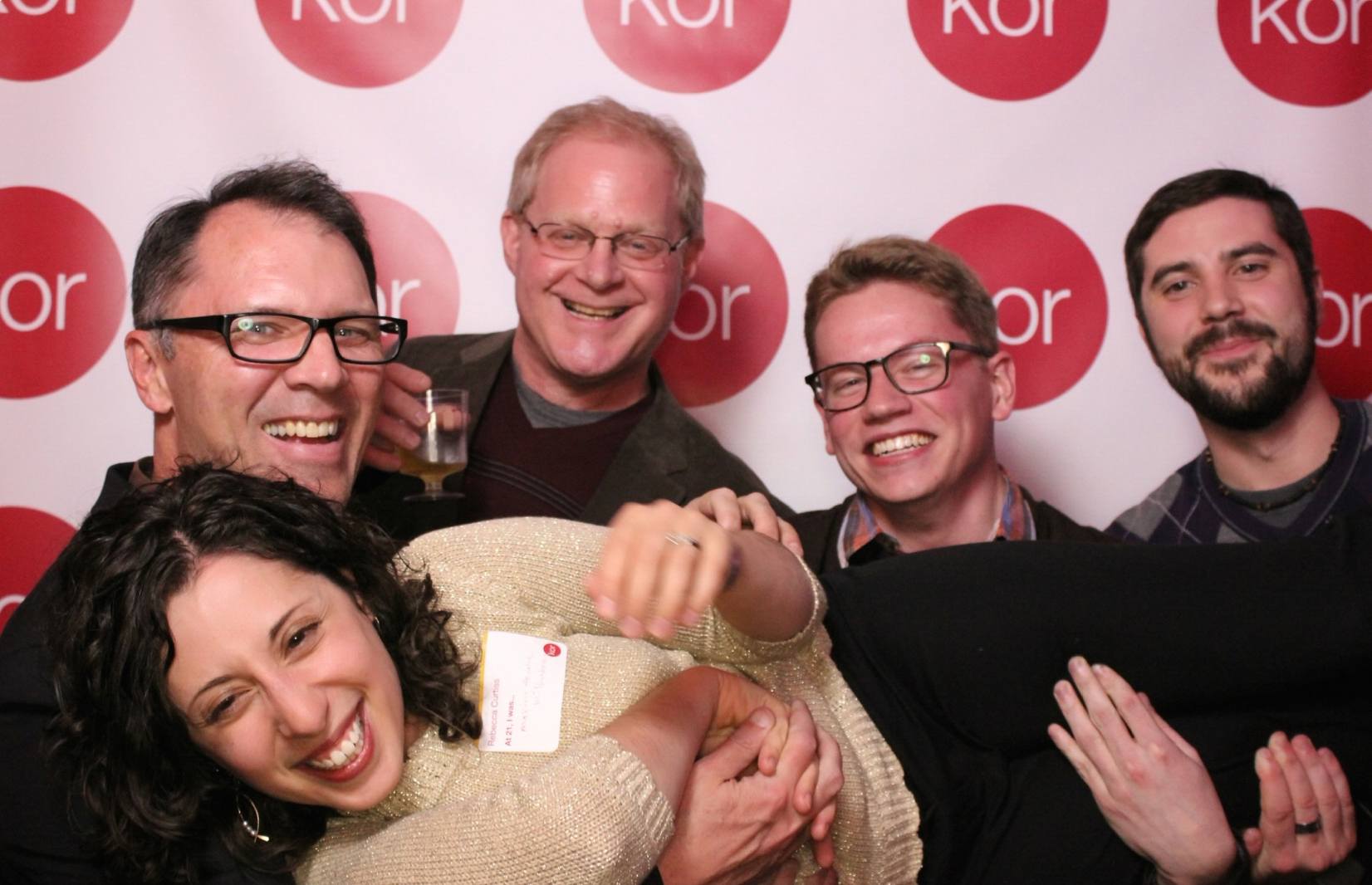 Our team horsing around at a recent party hosted by one of our design partners.