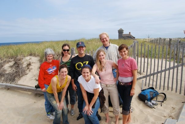 Provincetown, Massachusetts, September 2008 (clockwise from left): Chris Kane, Natasha Waibel, Neal Kane, Jason Rubin, Nancy Faris, Alison Case, Andrea Still Gray, Nancy Boissonnet.