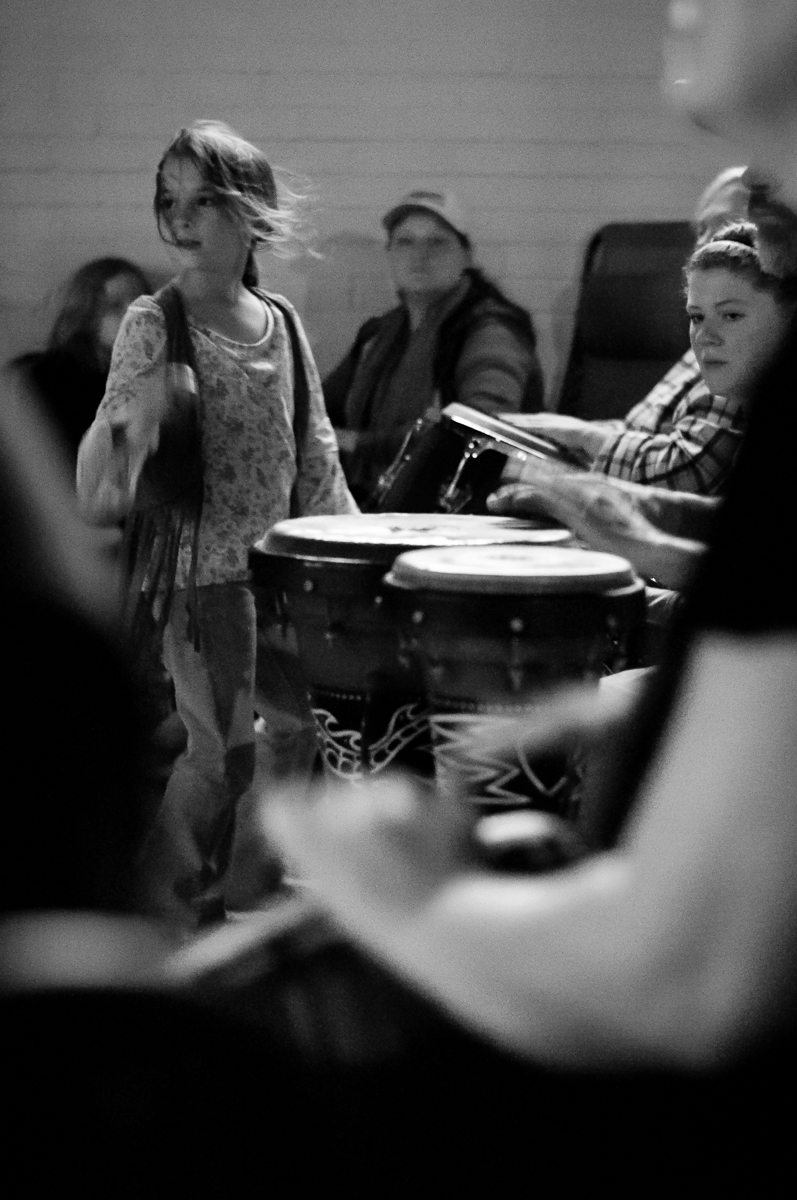 One of the key demographics that I have personally observed that really enjoy the community and social interactions of the drum circles are families.