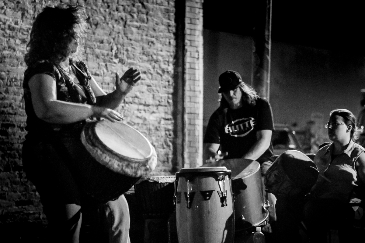 The rhythm and beats of the drumming are mesmerizing reaching down into the core of us as humans. The tribal sounds resonate deeply into our cultural past and vibrationally connect us together.