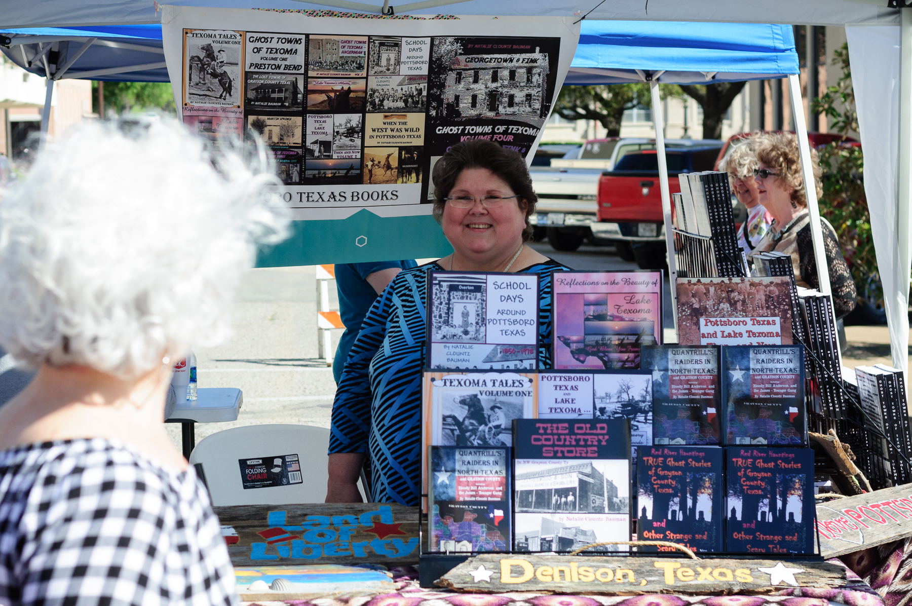 Local history, the specialty of author Natalie Clountz Bauman, was one of the many genres available in book form bringing the past to life.