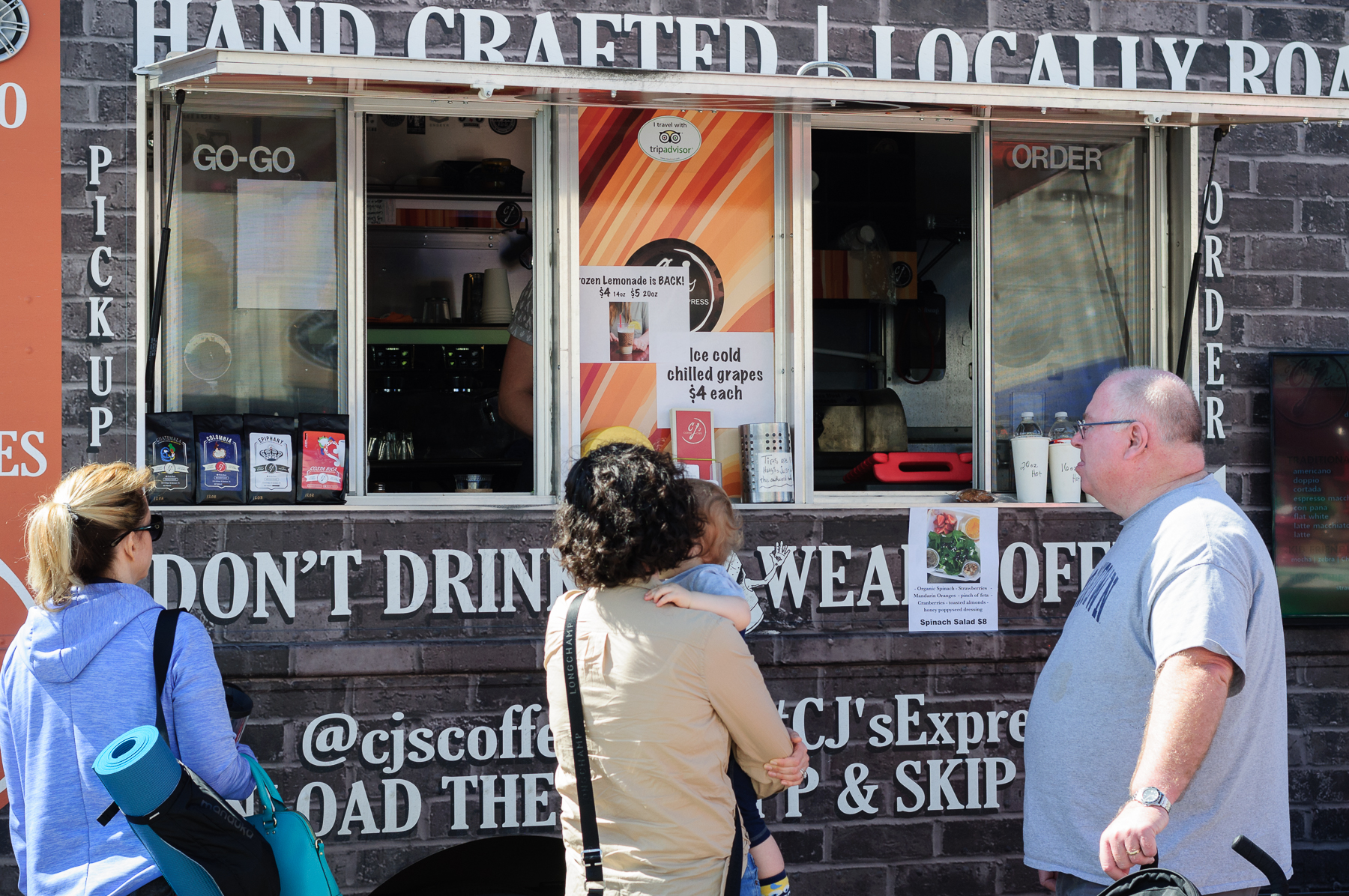 CJ's Cafe had their truck on site providing beverages to festival goers.  Coffee isn't just for breakfast.