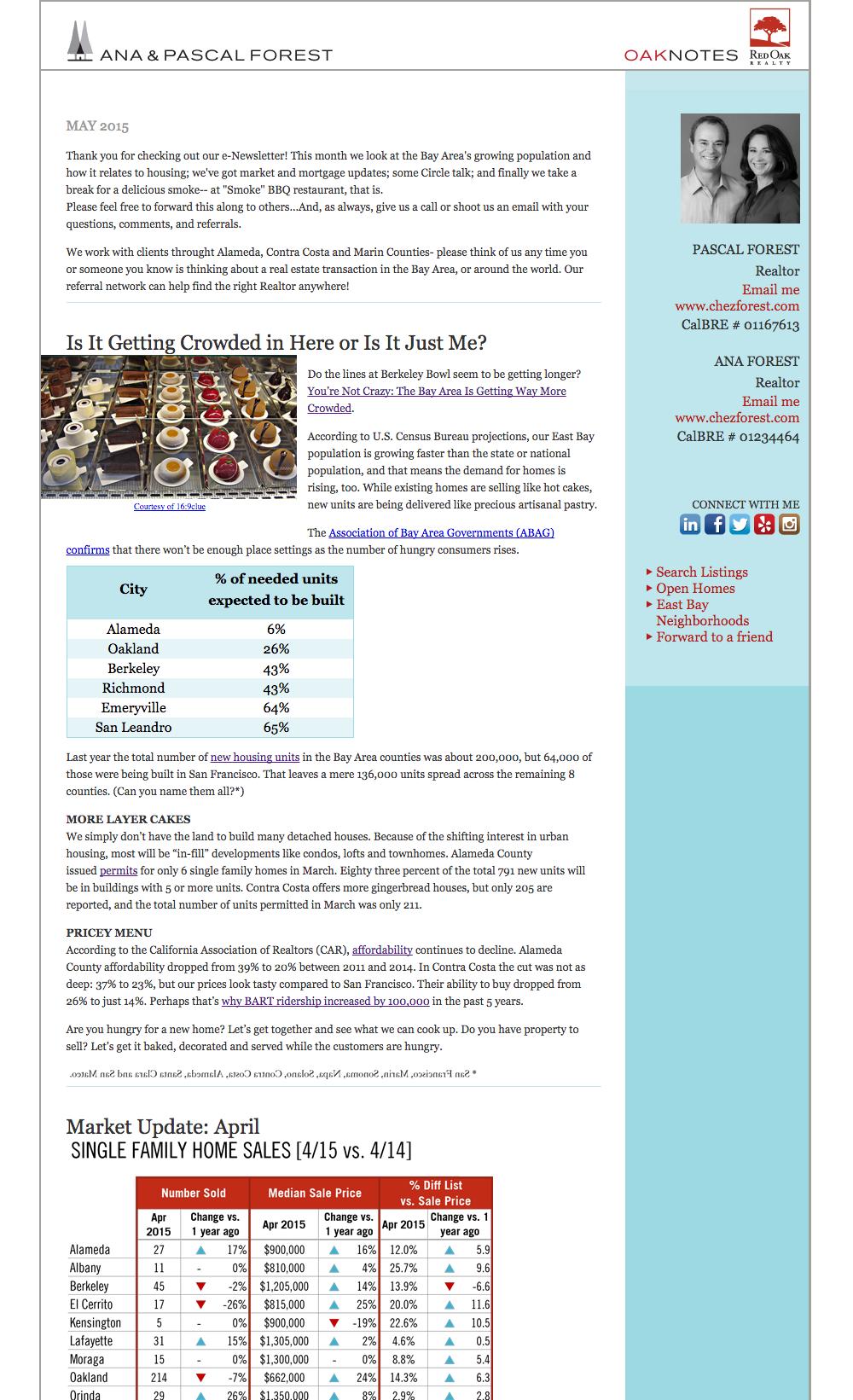 Oaknotes eNewsletter