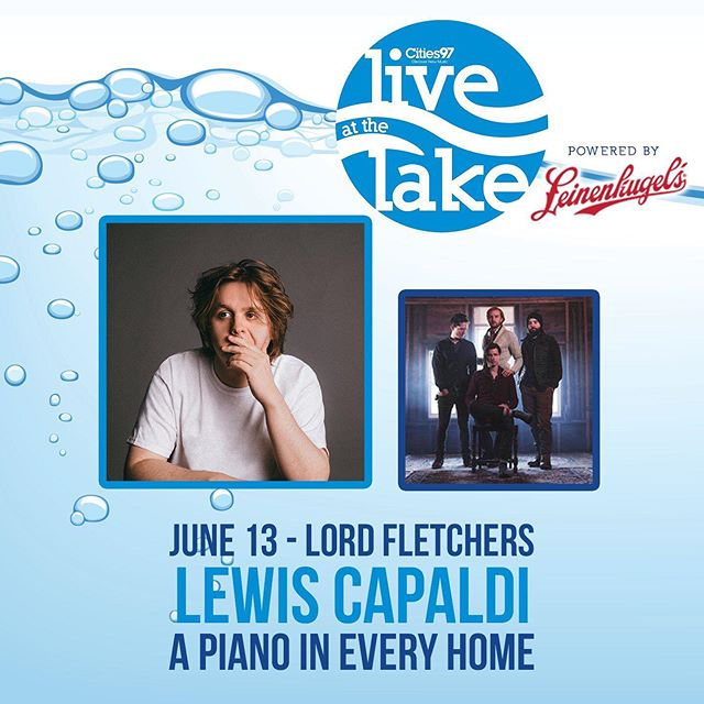 We've got a busy but exciting week with the new record coming out on Friday and the release show at our studio the day after, but this is a special bonus. We'll have the pleasure of opening up for @lewiscapaldi Thursday afternoon at @lordfletchers for @cities971radio's Live at the Lake. See you there on the sunny patio, cocktail in hand.