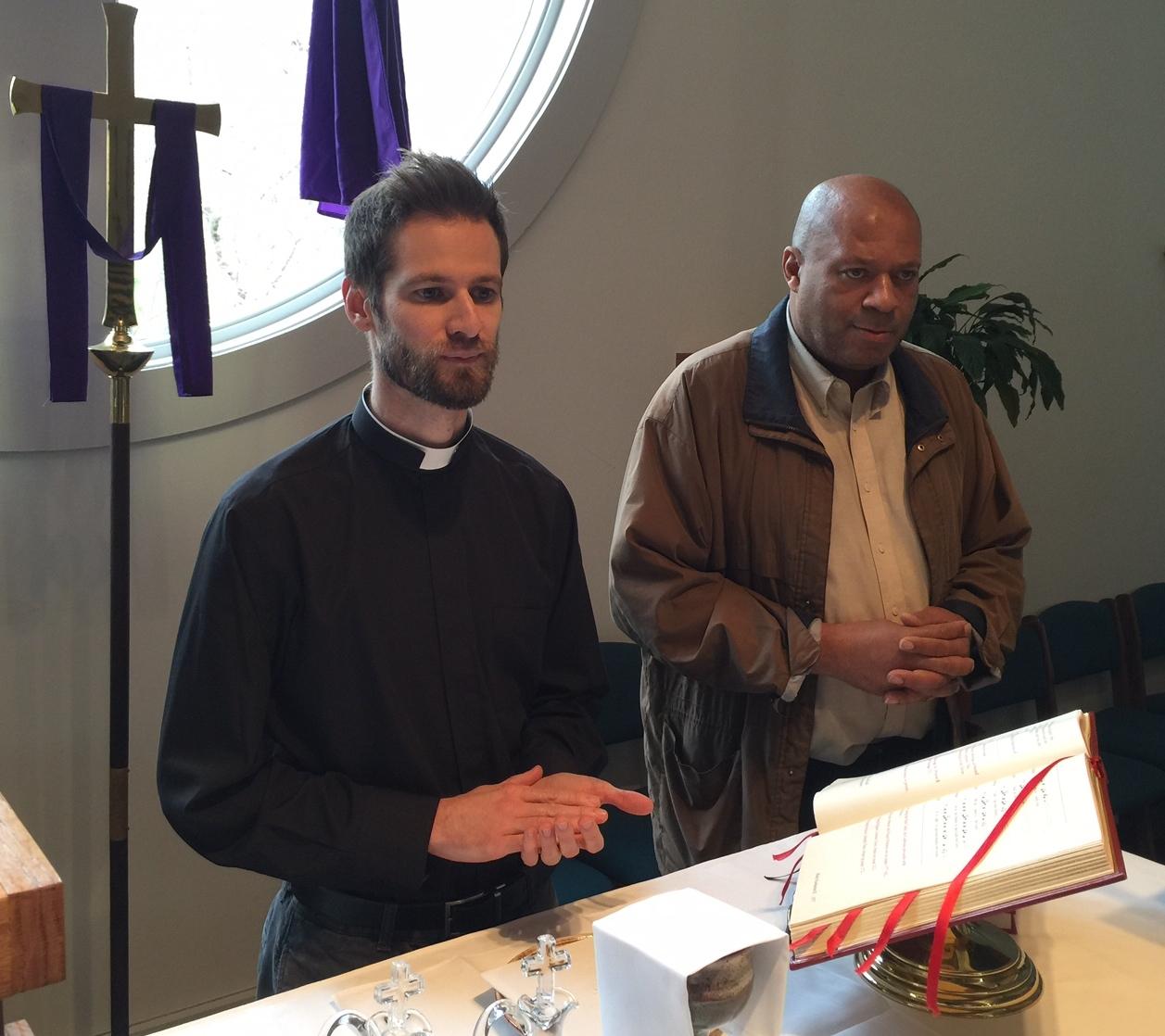 The Rev. Brandon Duke andnew Verger Earnell Morris  Photo: Chuck Dale