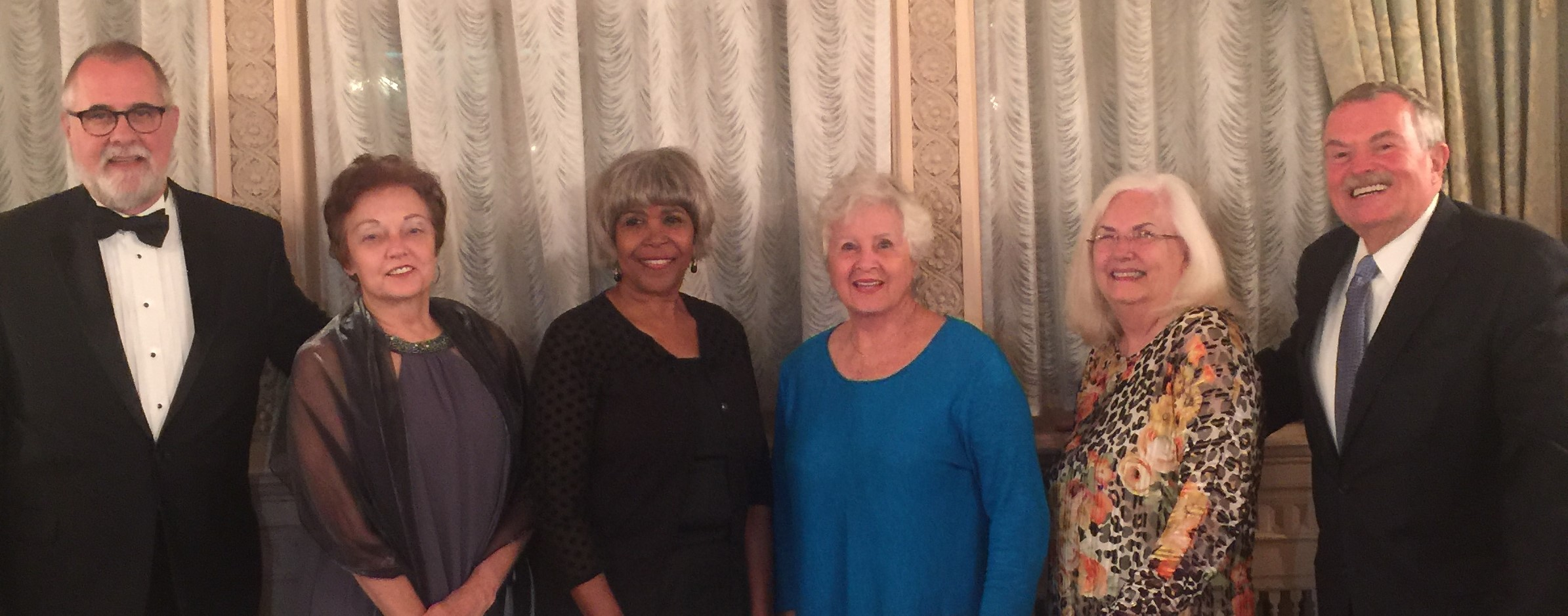 Vergers     from the Atlanta pause during the Annual Banquet for a photo.      Phillip Knight, Martha-Sue Blythe, Yolande Collins, Cheryl Josephson, Ruth Anne Tatum and Chuck Dale      Not Shown: David Neville