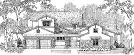 MONTANE 4653   4653 Square Feet  4 Bedrooms – 5.5 Baths  89' Wide – 110' Deep  Casita, courtyard, covered patio, optional studio