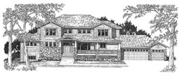 NORFOLK 3886   3886 Square Feet  4 Bedrooms – 3.5 Baths  104' Wide – 59' Deep  Covered porch, loft