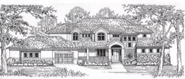 CANTERBURY 3758   3758 Square Feet  4 Bedrooms – 4.5 Baths  108' Wide – 98' Deep  Covered porch and deck, loft, angled garage