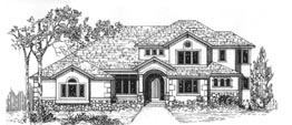 "MADISON 3502   3502 Square Feet  3 Bedrooms – 3.5 Baths  74' Wide – 75' Deep  Living room, ""gazebo"" nook, covered deck, loft, playroom"