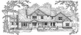 KINGSWOOD 3458   3458 Square Feet  3 Bedrooms – 3.5 Baths  93' Wide – 77' Deep  Farmhouse style, wrap-around porch, sun room, bonus room, loft