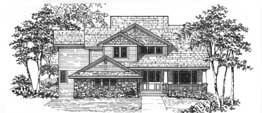 BENTLEY 3053   3053 Square Feet  4 Bedrooms – 3.5 Baths  57' Wide – 64' Wide  Living room, side entry garage