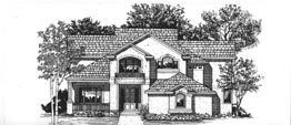 BENTLEY 3020   3020 Square Feet  4 Bedrooms – 3.5 Baths  57' Wide – 64' Deep  Living room, upper level porch