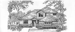 CLAIREMONT 2562   2562 Square Feet  3 Bedrooms –2.5 Baths  49'Wide – 72' Deep  Narrow lot plan