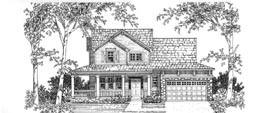 RICHFIELD 2117   2117 Square Feet  3 Bedrooms – 2.5 Baths  54' Wide – 52' Deep  Wrap-around porch, bonus room