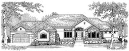 MADISON 2959   2959 ML + 2793 LL = 5752 Total Square Feet  1 ML + 3 LL Bedrooms – 1.5 ML + 2 LL Baths  99' Wide – 72' Deep  Hearth room, gazebo-like nook, oversized four car garage, covered deck