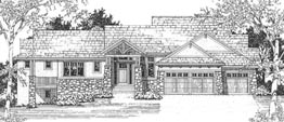 WHITNEY 2930   2930 ML + 2225 LL = 5155 Total Square Feet  2 ML + 2 LL Bedrooms – 2.5 ML + 2.5 LL Baths  85' Wide – 74' Deep  Living room, ideal plan for corner views, several covered decks