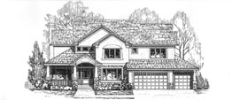 STRATFORD 3353A   3353 Square Feet  4 Bedrooms - 3.5 Baths  69' Wide - 53' Deep  Economical and most popular plan, back stair, front entry garage