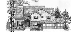 STRATFORD 2955   2955 Square Feet  4 Bedrooms - 3.5 Baths  67' Wide - 50' Deep  Economical and most popular plan, back stair