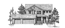 WESTON 2095   2095 Square Feet  3 Bedrooms - 2.5 Baths  43' Wide - 49' Deep  Covered porch, option for third car garage