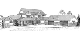 aPLINSTOCK 4166   4166 Square Feet  4 Bedrooms – 4.5 Baths  134' Wide – 72' Deep  CoLORADO CONTEMPORARY IDEAL FOR CORNER OR SIDE VIEWS