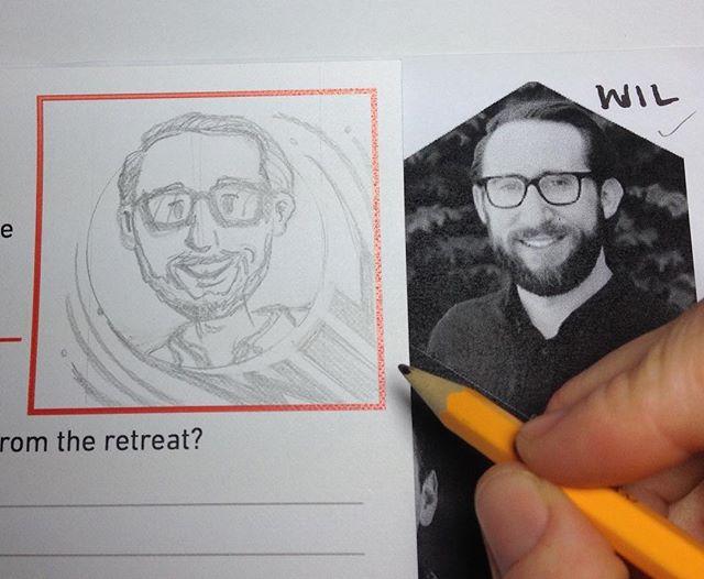 Drawing company employees #workinprogress #caricatures #headshots #sketching