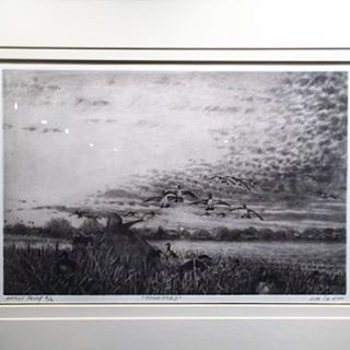 This new Vito DeVito Artwork Etching is 16 x 20 framed, with 12 Artist Proofs. The dawn scene depicts goose hunting out here on the East End of Long Island, New York. $450. Available for purchase on website, link in profile!