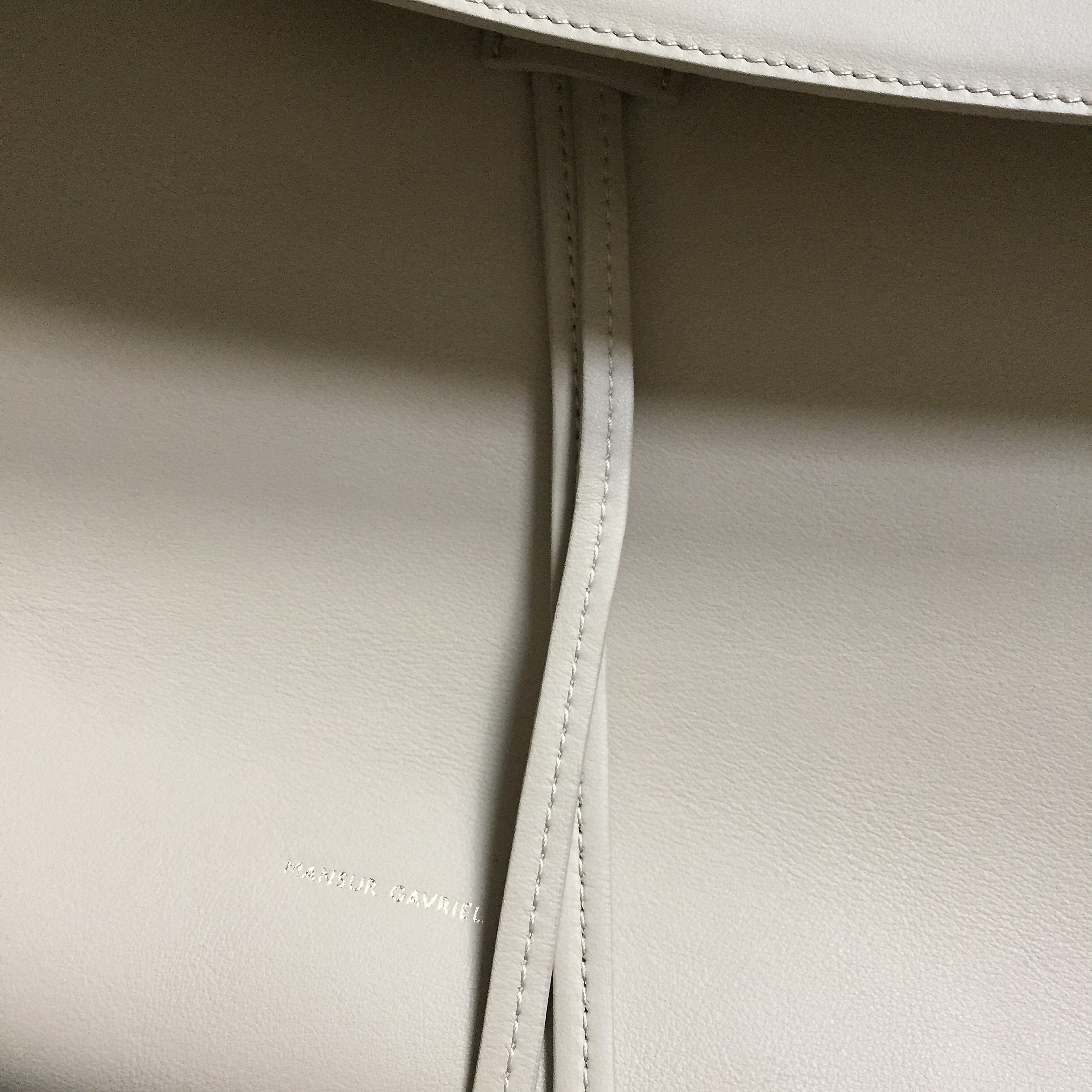 Mansur Gavriel Lady Bag Large Sand detail